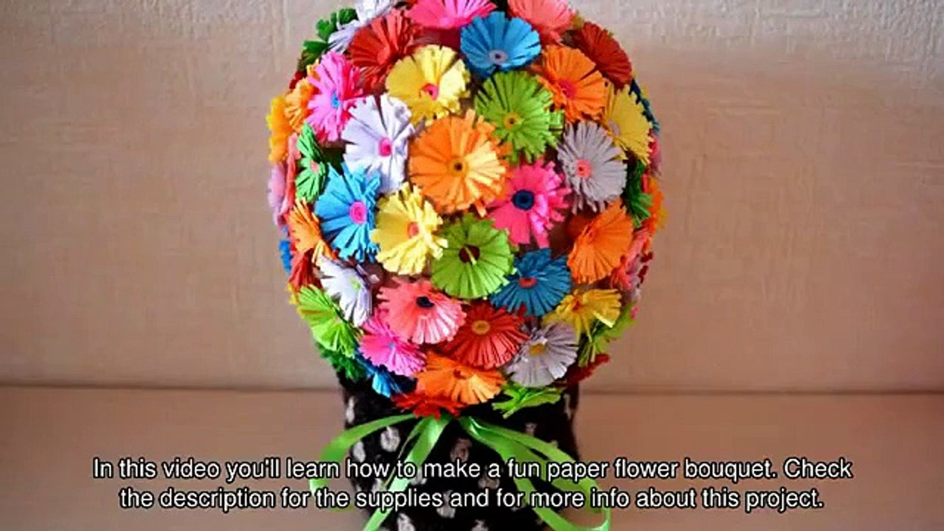 How To Make A Fun Paper Flower Bouquet Diy Crafts Tutorial Guidecentral