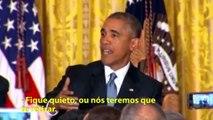 """Até na Casa Branca! Torcedor grita """"vai, Corinthians!"""" na frente de Obama"""