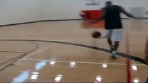 """10 feet hoop 6'0"""" Nate 6'3"""" Rich...dunking at uwo rec center...with miss attempts"""