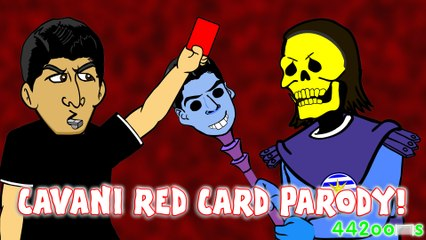 CAVANI RED CARD! Chile vs Uruguay 1-0 Copa America 2015 (Bum bottom Skeletor Parody)