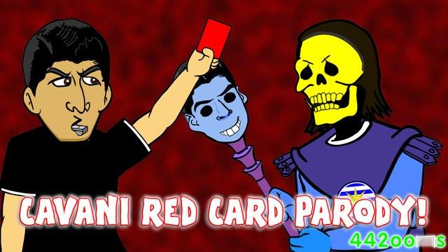 CAVANI RED CARD! Chile vs Uruguay 1-0 Copa America 2015 (Bum bottom Skeletor Parody)
