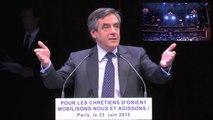 Discours intégral de François Fillon lors du grand rassemblement de soutien aux Chrétiens d'Orient