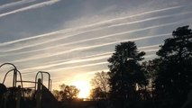 Chemtrails heavy spraying in our sky 2014