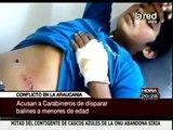Niños mapuches heridos por conflicto en la Araucanía acusan a carabineros ante fiscalía