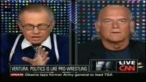"Pt 2/3 Jesse Ventura discusses his new book ""American Conspiracies"" 3/8/10 - CNN's Larry King"