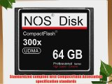 NOS Disk Extreme 64 GB 35 MB/s 300x Ultimate Compact Flash Card CF 64 GB