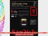 SanDisk Extreme PRO 8GB UHS-1 SDHC Memory Card Up To 95MB/s - SDSDXPA-008G-X46 (EOL)