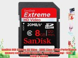 SanDisk 8GB Extreme HD Video - SDHC Class 6 High Performance memory card (SDSDX3-8192-P21 Retail