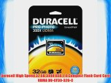 Duracell High Speed 32 GB 300X USB 2.0 Compact Flash Card Card UDMA DU-CF30-32G-C