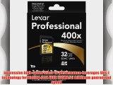 Lexar Professional 400x 32GB SDHC UHS-I Flash Memory Card LSD32GCTBNA4002 - Pack of 2