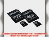 Nokia Lumia 920 Cell Phone Memory Card 2 x 32GB microSDHC Memory Card with SD Adapter (2 Pack)