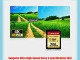 Transcend 256 GB High Speed 10 UHS-3 Flash Memory Card 95/60 MB/s (TS256GSDU3)