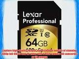 Lexar Professional 600x 64GB SDXC UHS-I Flash Memory Card LSD64GCRBNA6002 - 2 Pack