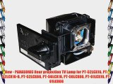 New - PANASONIC Rear projection TV Lamp for PT-52LCX16 PT-52LCX16-B PT-52LCX66 PT-56LCX16 PT-56LCX66