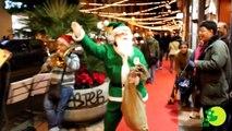 Babbo Natale Verde in giro per Cagliari (Giovedi 22/12/2011)