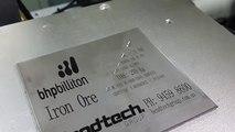China laser engraving machine, fiber laser marking, stainless steel nameplate laser engraving