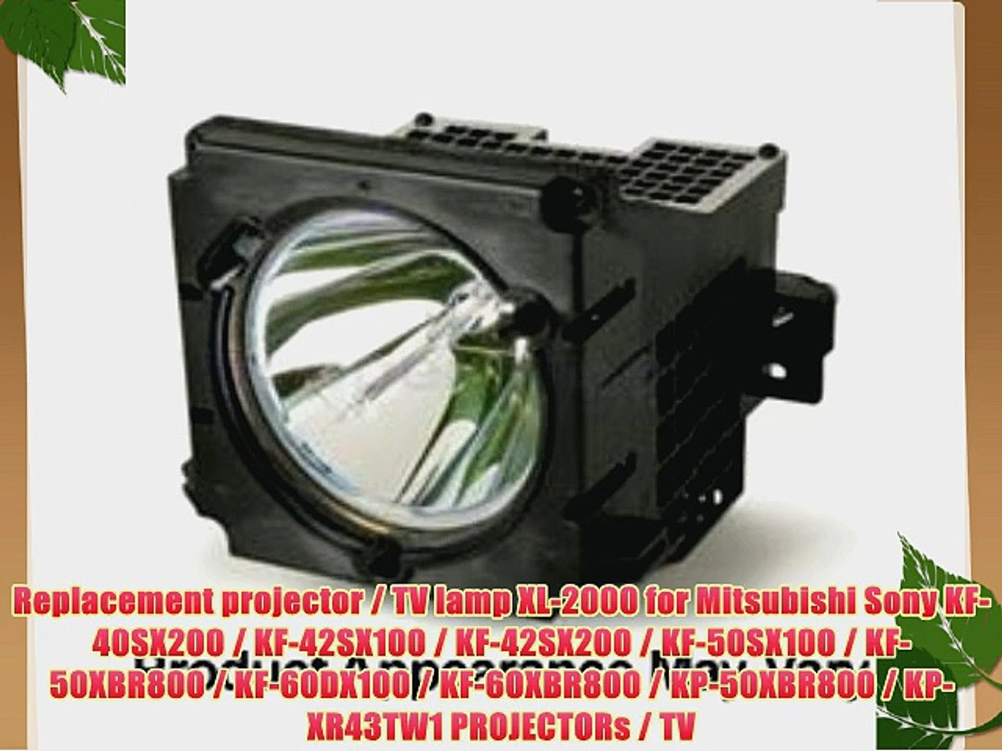 Sony XL-2000U Replacement Lamp for Sony TV