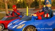 Power Wheels Race PROMO - Spiderman vs Captain America!