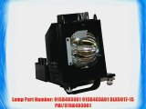 Mitsubishi Replacement Lamp with Housing and Original Bulb for WD-60735 WD-60737 WD-6