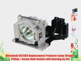 Mitsubishi HC1500 Replacement Projector Lamp (Original Philips / Osram Bulb Inside) with Housing