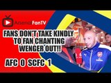 Fans don't take kindly to Fan chanting Wenger Out!! | Arsenal 0 Swansea 1