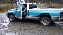 killing a dodge ram with burnout, tire pops, rim burnout HD
