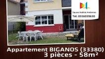 A vendre - Appartement - BIGANOS (33380) - 3 pièces - 58m²