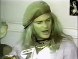 David Lee Roth pissed off at Van Halen (1986)