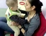lovely video lady with small boy Kissing Baby video~1