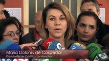 María Dolores de Cospedal, presidenta de Castilla-La Mancha, ejerce su derecho al voto