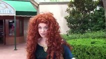 Merida answers questions at Epcot - Character from Disney Pixar's Brave
