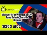 Wenger In or Wenger Out?? | Fans Debate Outside Ground - Stoke City 3 Arsenal 2