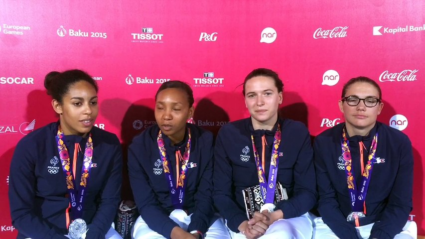 Equipe de France de fleuret - médaille d'argent par équipe