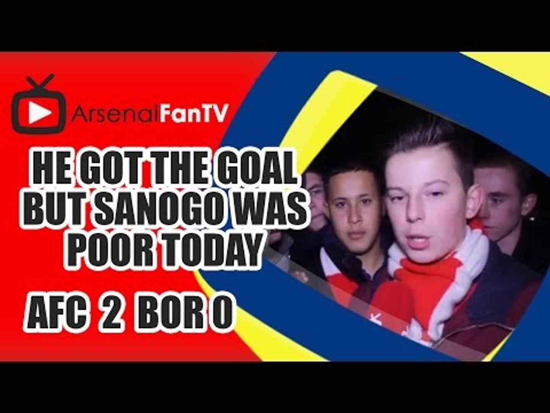 He Got The Goal But Sanogo Was Poor Today Says Fan || Arsenal 2 Borussia Dortmund 0