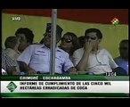 Evo Morales suspende actividades de la DEA en Bolivia - Informe erradicación de coca 3/3