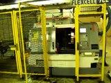 Mazak Quickturn Nexus 200 (2) Machine CNC Lathe Cell with Robotic Gantry Load / Unload