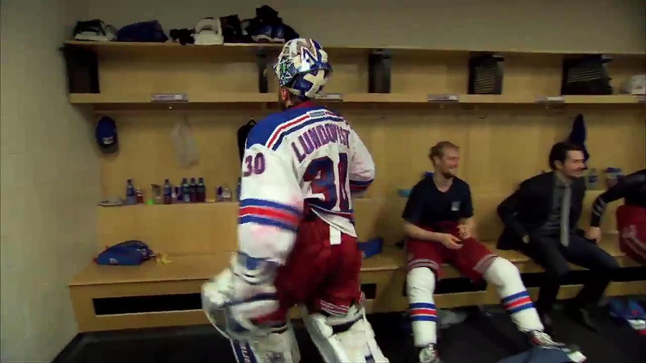New York Rangers Game 7 Locker Celebration