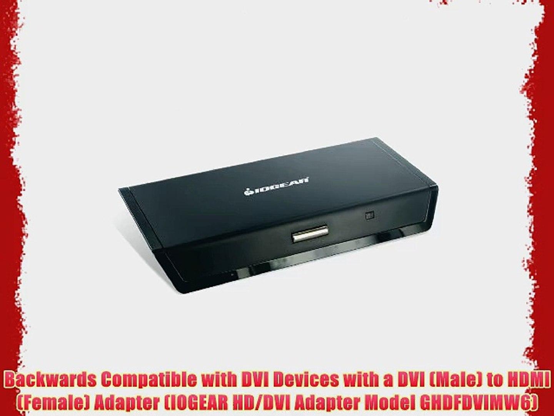IOGEAR DVI Male to HD Female Adapter GHDFDVIMW6