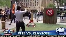 Reporter throws axe on a guy and hurts him... So crazy fail live on TV