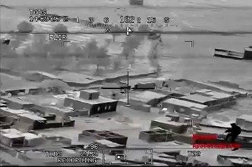 Helicóptero Apache dispara contra terroristas do Estado Islâmico