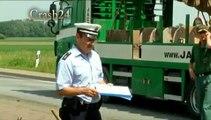 Mutterstadt- A 61 nach Schwerer LKW Unfall  gesperrt am 08.06.10