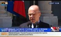 """""""Le Gouvernement continuera, face à un haut niveau de menace, à agir sans trêve ni pause"""""""