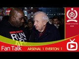 Arsenal FC 1 Everton 1 - Fan Who Has Been Supporting Arsenal For 46 Years