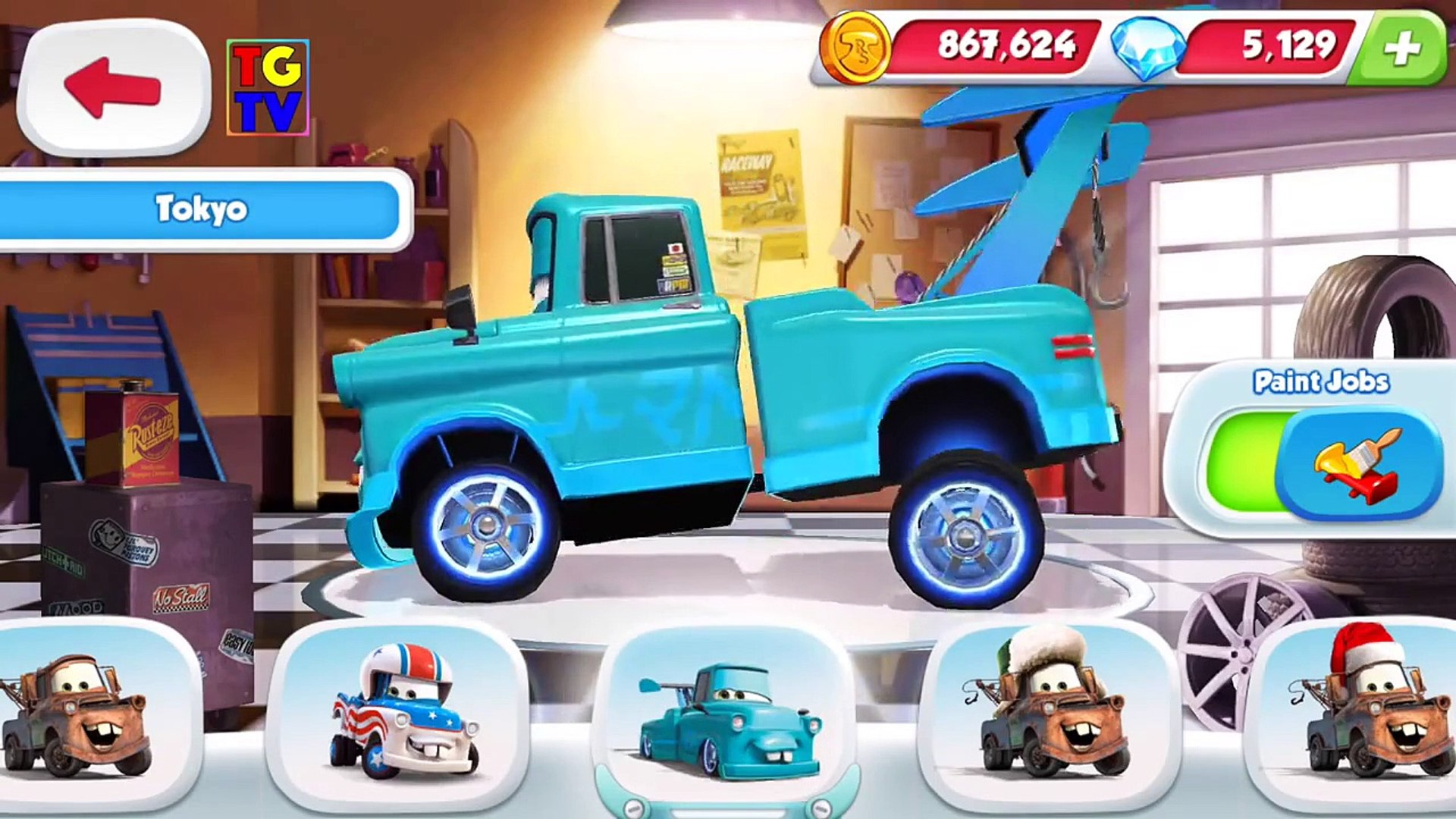 Disney Pixar Cars Tow Mater All Paint Jobs Races Video Dailymotion