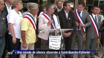 Une minute de silence observée à Saint-Quentin-Fallavier