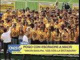 LA Juventud del PRO Contratada por MACRI lo Escracha...tonto y re tonto jajaj CFK 2011