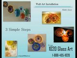 Hand Blown Wall Art Glass Plate Install From 1020 Glass Art