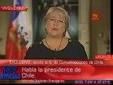 Habló Michelle Bachelet en cadena nacional Chilena.