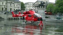 HEMS London's Air Ambulance Taking Off From Trafalgar Square