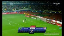 Full Penalty Shoot-Out   Brazil 1-1 Paraguay (Paraguay win 3-4 after penalties) 27.06.2015 Copa América